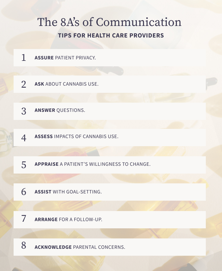 An infographic showing communication tips for health care providers.